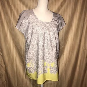 Motherhood Maternity Small yellow gray blouse